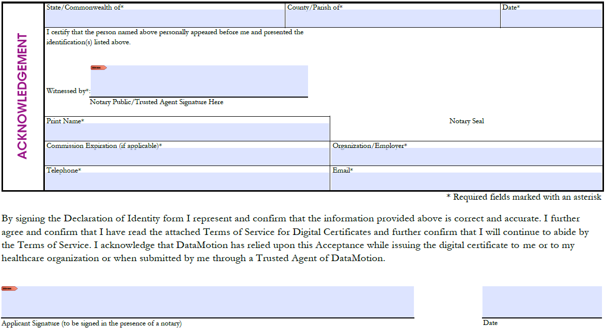 How do I fill out the Declaration of Identity document (TA form ...