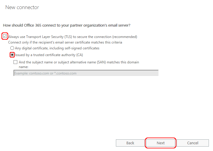Office 365 with DataMotion SecureMail via Content Filtering